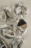 Comida redonda del papel de aluminio aislada Imagen de archivo