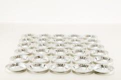 Comida redonda del papel de aluminio aislada Fotografía de archivo libre de regalías