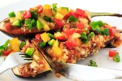 Comida rellena de la berenjena para el vegetariano foto de archivo libre de regalías