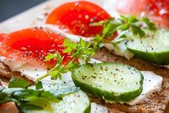 Comida sana, bocadillos del desayuno Foto de archivo libre de regalías