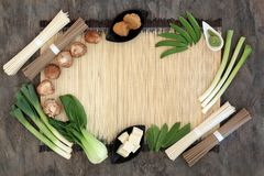 Comida sana de la dieta macrobiótica Imagen de archivo libre de regalías