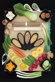 Comida sana de la dieta macrobiótica fotografía de archivo