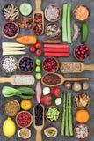 Comida sana de la nutrición imagenes de archivo