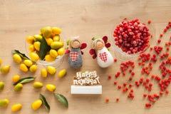 Comida sana de la vitamina por la Navidad y el Año Nuevo Fotos de archivo libres de regalías