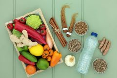 Comida sana del Detox de la dieta fotos de archivo