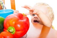 Comida sana del niño Imagen de archivo libre de regalías