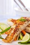 Comida sana del pangasius de los pescados Imagen de archivo libre de regalías