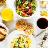 Comida sana fresca del desayuno continental Imagen de archivo libre de regalías