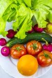 Comida sana, sana, fruta y verdura Foto de archivo