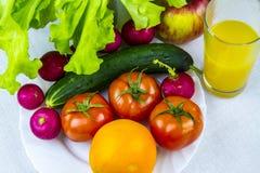 Comida sana, sana, fruta y verdura Fotografía de archivo libre de regalías