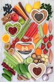 Comida sana por una vida sana fotografía de archivo libre de regalías