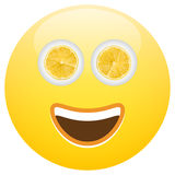 Comida sana Smiley Face Emoticon Imagen de archivo