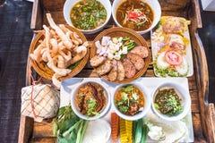 Comida septentrional tailandesa Imágenes de archivo libres de regalías