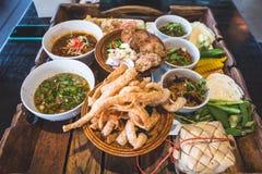 Comida septentrional tailandesa Foto de archivo
