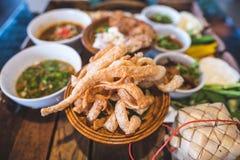 Comida septentrional tailandesa Fotos de archivo libres de regalías