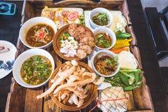 Comida septentrional tailandesa Imagen de archivo