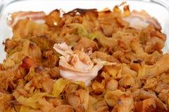 Comida servia tradicional Podvarak con la col y la carne Chucrut con tocino imágenes de archivo libres de regalías