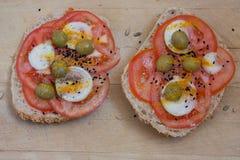 Comida simple, sana y nutritiva Imagen de archivo
