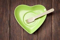 Comida sostenible verde Foto de archivo libre de regalías