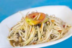 Comida tailandesa de la ensalada verde de la papaya imagen de archivo libre de regalías