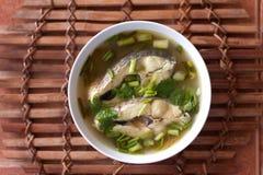 Comida tailandesa de la sopa de los pescados Fotos de archivo