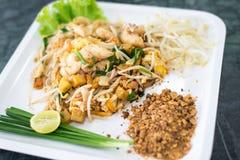 Comida tailandesa de los tallarines del estilo Fotografía de archivo libre de regalías