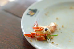 Comida tailandesa de sobra Imagen de archivo libre de regalías