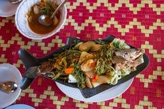 Comida tailandesa del Anaranjado-curry fotos de archivo libres de regalías