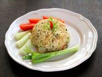 Comida tailandesa del arroz frito Imagen de archivo libre de regalías