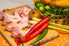 Comida tailandesa del artículos de cocina Imagen de archivo libre de regalías