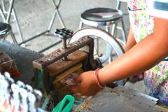 Comida tailandesa del calamar foto de archivo libre de regalías