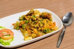 Comida tailandesa del cangrejo, comida tailandesa Fotografía de archivo libre de regalías