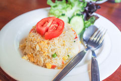 Comida tailandesa del estilo del arroz frito Imagen de archivo libre de regalías