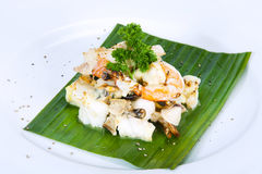 Comida tailandesa en un hotel de lujo imagen de archivo