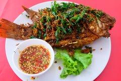 Comida tailandesa, Fried Fish Imagen de archivo