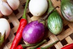 Comida tailandesa hervida de las verduras Foto de archivo