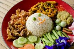 Comida tailandesa, kai de Kaeng del hombre de Khao imagen de archivo