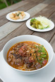 Comida tailandesa, Kanom Jeen Nam Ya Imagen de archivo libre de regalías