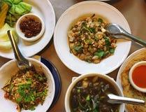 Comida tailandesa, comida tailandesa septentrional, comida tailandesa septentrional tradicional, mezclada Fotos de archivo
