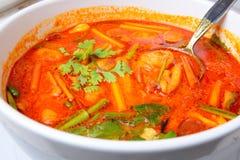 Comida tailandesa Tom Yum Goong fotos de archivo