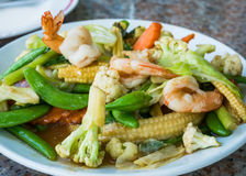 Comida tailandesa, verduras sofritas Fotos de archivo libres de regalías