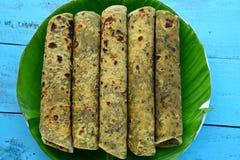 Comida-Thepla india Imagen de archivo