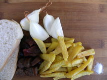 Comida tradicional comida, burilador campesino tradicional servido frío Fotografía de archivo libre de regalías