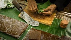 Comida tradicional de la torta del kue de Jenang de la central Java de Indonesia fotos de archivo