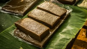 Comida tradicional de la torta del kue de Jenang de la central Java de Indonesia imagen de archivo