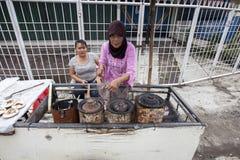 Comida tradicional de Serabi-Indonesia Fotos de archivo