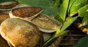 Comida tradicional de Surabi o del serabi de Indonesia Fotografía de archivo libre de regalías
