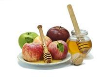 Comida tradicional para Rosh Hashanah Fotos de archivo libres de regalías