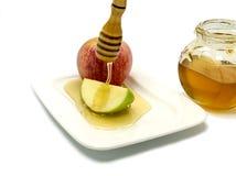 Comida tradicional para Rosh Hashanah - Año Nuevo judío Foto de archivo