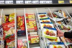 Comida turca en una tienda alemana Imagen de archivo